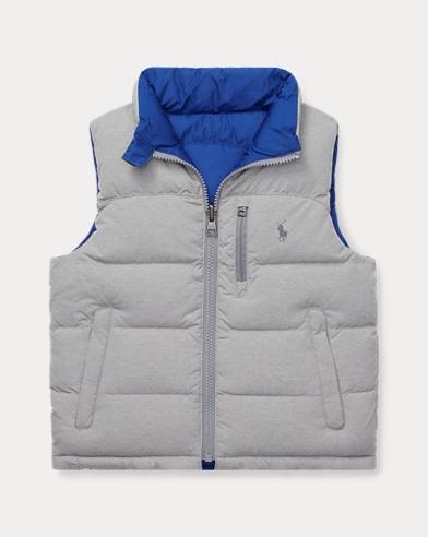 폴로 랄프로렌 남아용 양면 패딩 조끼 Polo Ralph Lauren Reversible Ripstop Down Vest,Lt Grey Heather