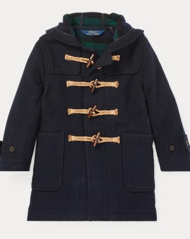 폴로 랄프로렌 남아용 울 블렌드 코트 Polo Ralph Lauren Wool-Blend Hooded Toggle Coat,Piper Navy