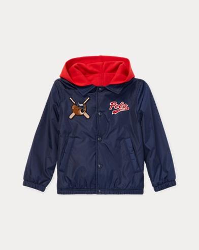 폴로 랄프로렌 남아용 폴로베어 코치 자켓 Polo Ralph Lauren Polo Bear Hooded COACH Jacket,French Navy
