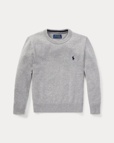 폴로 랄프로렌 남아용 스웨터 Polo Ralph Lauren Cotton Crewneck Sweater,Andover Heather