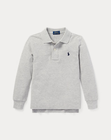 폴로 랄프로렌 남아용 긴팔 폴로티 그레이 Polo Ralph Lauren Cotton Mesh Polo Shirt,Andover Heather