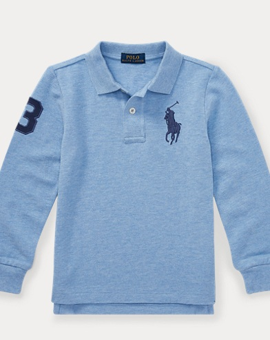 폴로 랄프로렌 남아용 긴팔 카라티 Polo Ralph Lauren Cotton Mesh Polo Shirt,Jamaica Heather