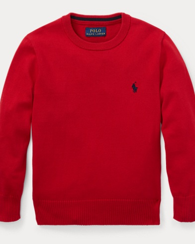 폴로 랄프로렌 남아용 스웨터 Polo Ralph Lauren Cotton Crewneck Sweater,Ralph Red