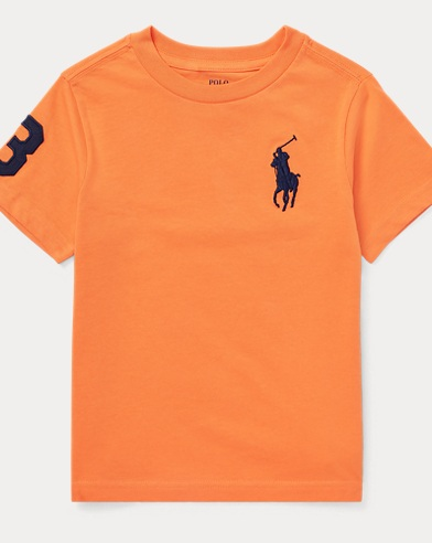폴로 랄프로렌 남아용 반팔 티셔츠 오렌지 Polo Ralph Lauren Cotton Jersey Crewneck T-Shirt,Kona Orange