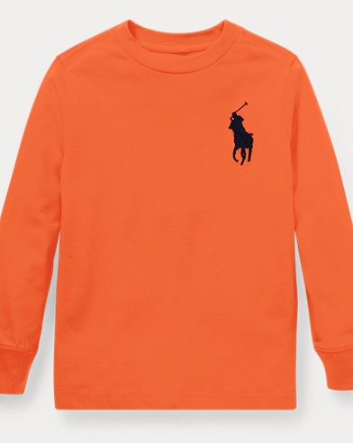 폴로 랄프로렌 남아용 긴팔 티셔츠 오렌지 Polo Ralph Lauren Cotton Long-Sleeve T-Shirt,Kona Orange