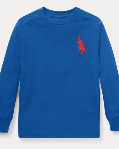 폴로 랄프로렌 남아용 긴팔 티셔츠 Polo Ralph Lauren Cotton Long-Sleeve T-Shirt,Sapphire