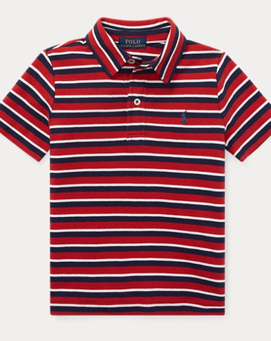 폴로 랄프로렌 남아용 반팔 카라티 레드 Polo Ralph Lauren Featherweight Cotton Mesh Polo,Faded Red Multi