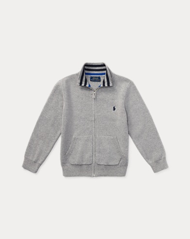 폴로 랄프로렌 남아용 스웨터 Polo Ralph Lauren Cotton Full-Zip Sweater,Andover Heather Multi