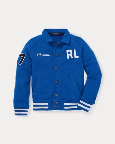 폴로 랄프로렌 남아용 자켓 Polo Ralph Lauren Cotton French Terry Jacket,Sapphire