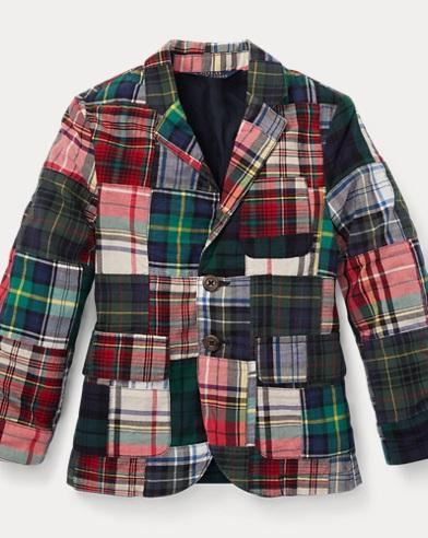 폴로 랄프로렌 남아용 코트 Polo  Ralph Lauren Morgan Madras Sport Coat,Patchwork