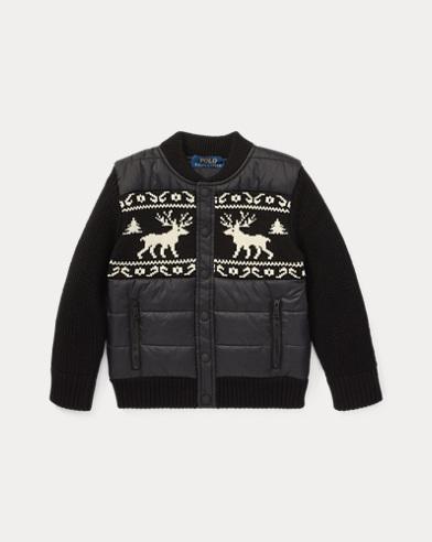 폴로 랄프로렌 남아용 자켓 블랙 Polo Ralph Lauren Merino Wool Hybrid Jacket,Polo Black Multi