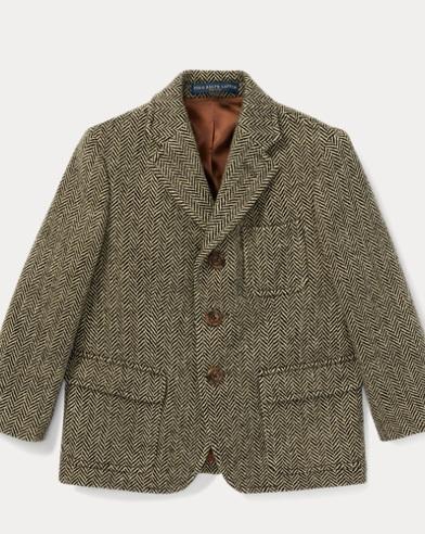 폴로 랄프로렌 남아용 코트 블랙/크림 Polo Ralph Lauren Herringbone Sport Coat,Black/Cream