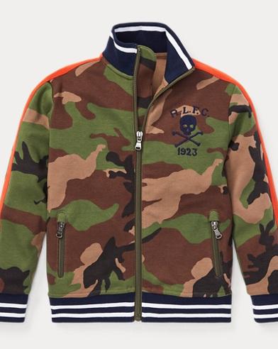 폴로 랄프로렌 남아용 카모 트랙 자켓 Polo Ralph Lauren Camo Cotton Track Jacket,Surplus Camo