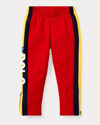 폴로 랄프로렌 Polo Ralph Lauren Hi Tech Double-Knit Pant,Polo Sport Red Multi