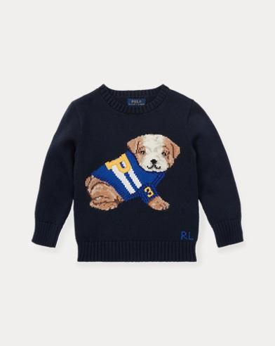 폴로 랄프로렌 남아용 스웨터 네이비 Polo Ralph Lauren Dog Cotton-Blend Sweater, Hunter Navy