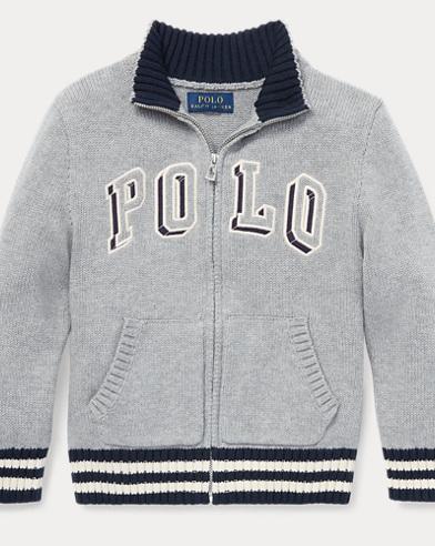 폴로 랄프로렌 남아용 스웨터 Polo Ralph Lauren Cotton Full-Zip Sweater,Andover Heather