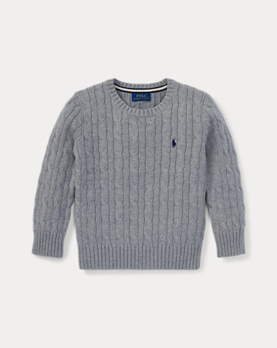 폴로 랄프로렌 남아용 꽈배기 스웨터 Polo Ralph Lauren Cable-Knit Cotton Sweater,Andover Heather