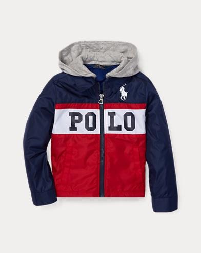 폴로 랄프로렌 남아용 후드 자켓 레드 Polo Ralph Lauren Graphic Hooded Jacket,Ralph Red