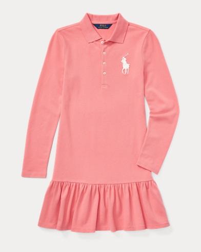 폴로 랄프로렌 걸즈 원피스 핑크 Polo Ralph Lauren Stretch Mesh Polo Dress,Dolce Pink