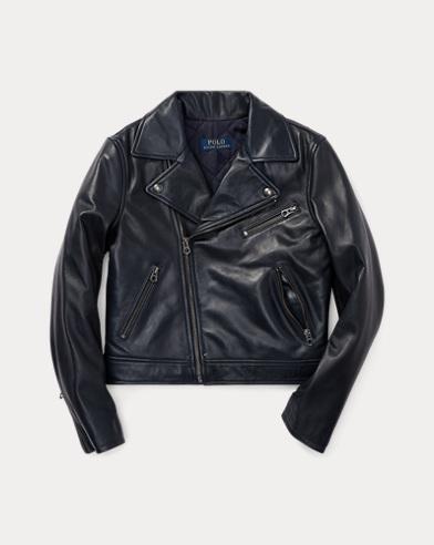 폴로 랄프로렌 걸즈 가죽 자켓 네이비 Polo Ralph Lauren Leather Moto Jacket,French Navy