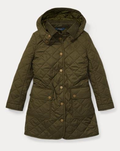폴로 랄프로렌 Polo Ralph Lauren Quilted Hooded Barn Jacket,Spanish Olive