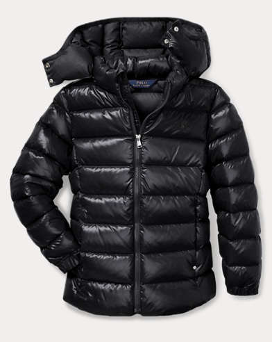 폴로 랄프로렌 걸즈 후드 다운 자켓 블랙 Polo Ralph Lauren Hooded Down Jacket,Polo Black