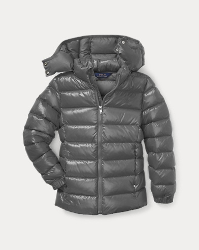 폴로 랄프로렌 걸즈 후드 다운 자켓 그레이 Polo Ralph Lauren Hooded Down Jacket,Magnum Grey