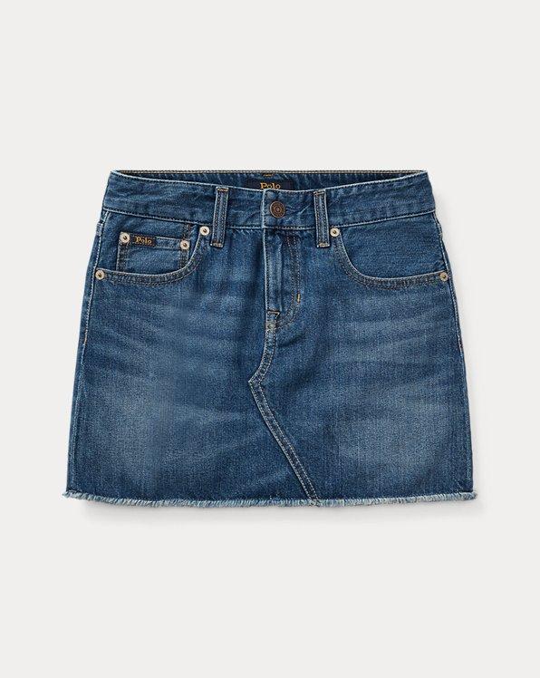 폴로 랄프로렌 걸즈 청치마 Polo Ralph Lauren Denim 5-Pocket Skirt,Wash