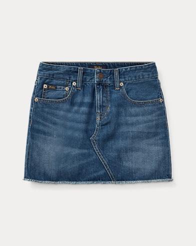 폴로 랄프로렌 걸즈 데님 스커트 Polo Ralph Lauren Denim 5-Pocket Skirt,Wash