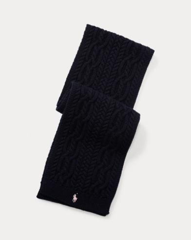 폴로 랄프로렌 걸즈 니트 스카프 네이비Polo Ralph Lauren Aran-Knit Scarf, Hunter Navy