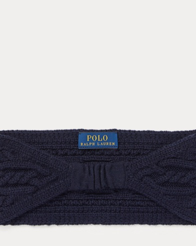폴로 랄프로렌 걸즈 니트 헤드밴드 네이비 Polo Ralph Lauren Aran-Knit Headband, Hunter Navy