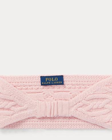 폴로 랄프로렌 걸즈 니트 헤드밴드 핑크 Polo Ralph Lauren Aran-Knit Headband,Hint Of Pink