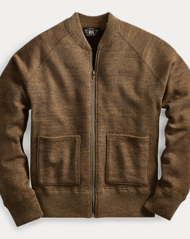 폴로 랄프로렌 Polo Ralph Lauren Cotton-Wool Full-Zip Cardigan,Olive Heather