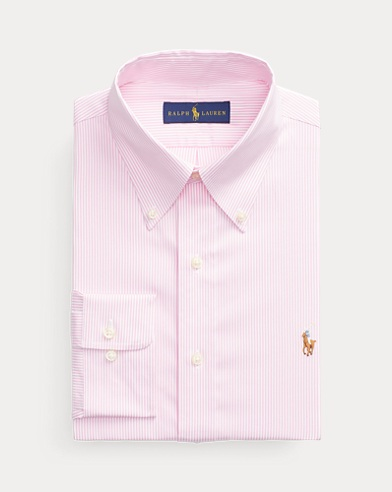 폴로 랄프로렌 클래식핏 옥스포드 셔츠 Polo Ralph Lauren Classic Fit Oxford Shirt,Pink/White