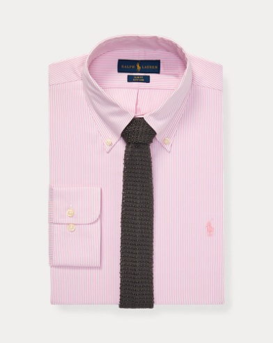 폴로 랄프로렌 슬림핏 셔츠 Polo Ralph Lauren Slim Fit Oxford Shirt,Pink/White
