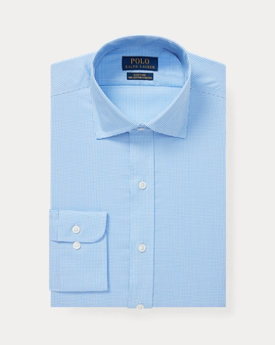 폴로 랄프로렌 커스텀핏 셔츠 Polo Ralph Lauren Custom Fit Gingham Shirt,Mini Blue/White