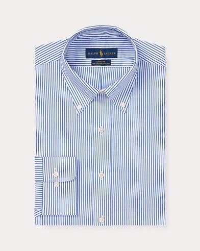 폴로 랄프로렌 Polo Ralph Lauren Custom Fit Striped Shirt,Dodger Blue/White