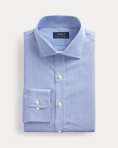 폴로 랄프로렌 슬림핏 셔츠 Polo Ralph Lauren Slim Fit Striped Poplin Shirt,Crystal Blue/White