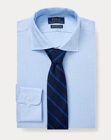 폴로 랄프로렌 Polo Ralph Lauren Slim Fit Easy Care Shirt,Blue/White