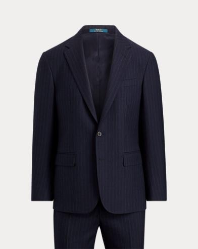 폴로 랄프로렌 Polo Ralph Lauren Polo Pinstripe Wool Twill Suit,Navy And Light Grey