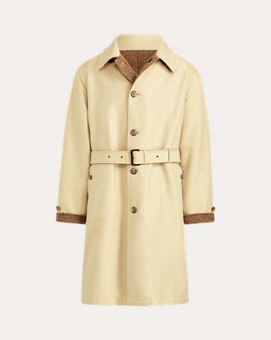 폴로 랄프로렌 Polo Ralph Lauren Reversible Balmacaan Topcoat,Brown And Tan