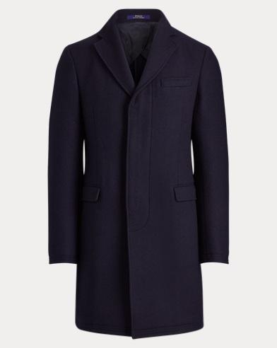 폴로 랄프로렌 울 블렌드 클래식 탑코트 네이비 Polo Ralph Lauren Morgan Wool-Blend Topcoat, Navy/Blackwatch