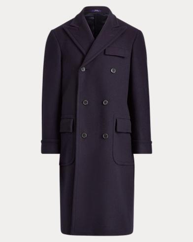 폴로 랄프로렌 울 블렌드 더블 코트 (네이비) Polo Ralph Lauren Polo Wool-Blend Topcoat,Navy