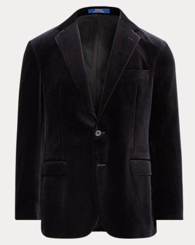 폴로 랄프로렌 블랙 벨벳 수트 자켓 Polo Ralph Lauren Morgan Velvet Suit Jacket,Black