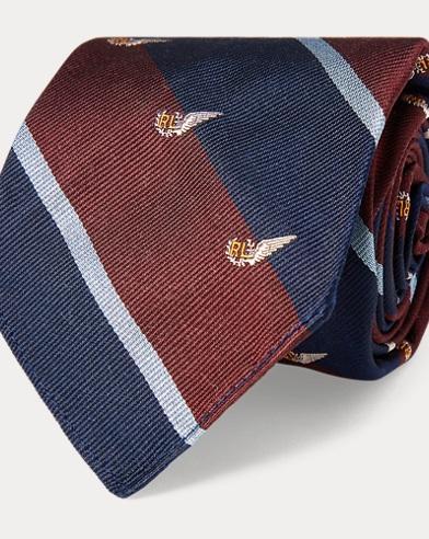 폴로 랄프로렌 Polo Ralph Lauren Vintage-Inspired Club Tie,Wine/Navy
