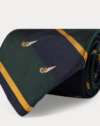 폴로 랄프로렌 Polo Ralph Lauren Vintage-Inspired Club Tie,Green/Navy
