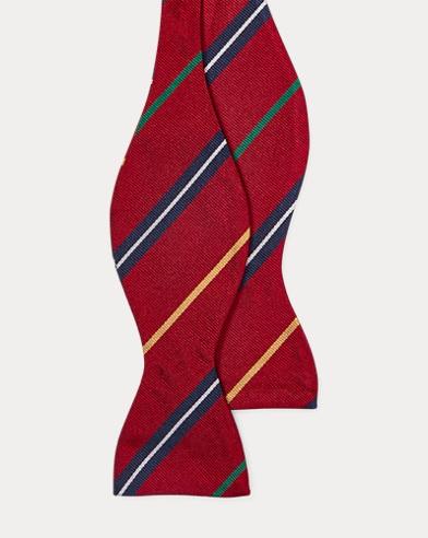 폴로 랄프로렌 Polo Ralph Lauren Silk Repp Bow Tie,Red/Gold/Navy