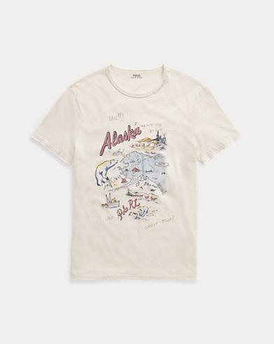 폴로 랄프로렌 알라스카 티셔츠 (커스텀 슬림핏) Polo Ralph Lauren Custom Slim Fit Cotton T-Shirt,Antique Cream