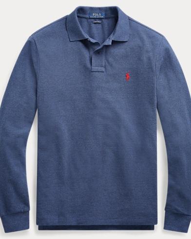 폴로 랄프로렌 Polo Ralph Lauren Classic Fit Long-Sleeve Polo,Rustic Navy Heather