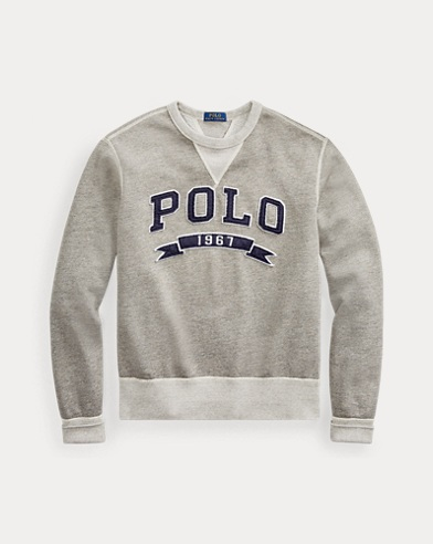 폴로 랄프로렌 Polo 1967 패치 스웻셔츠 - 배틀리온 헤더 Polo Ralph Lauren Cotton-Blend-Fleece Sweatshirt,Battalion Heather